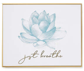 Just Breathe Lotus Flower Golden Frame Wall Plaque Big Lots