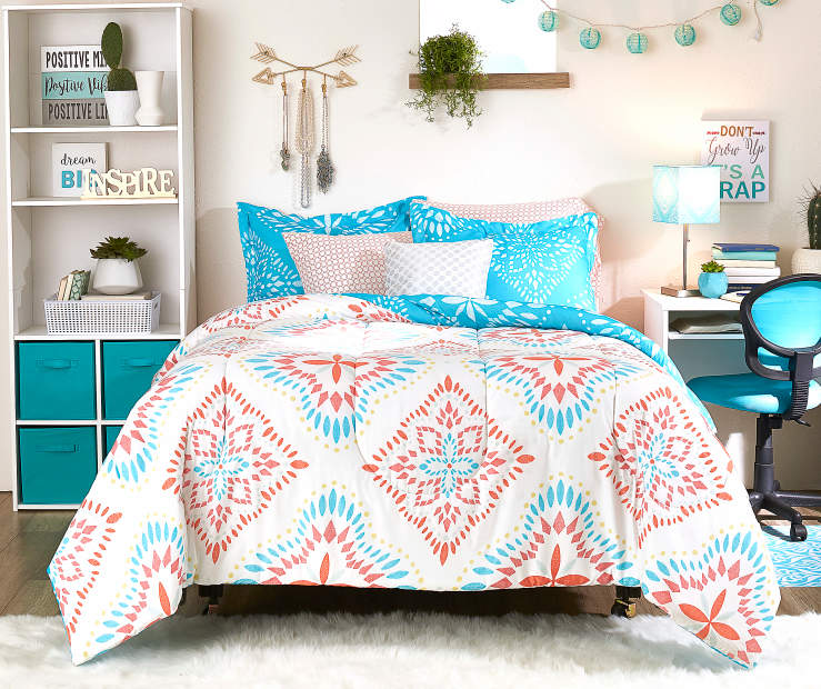 Bedroom Sets At Big Lots One Direction Bedrooms For Girls Hello Kitty Bedroom Ideas Bedroom Furniture Design 2016 In Pakistan: Just Home Ansley Capri Blue & Medallion Reversible