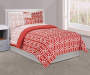 Just Home Coral Tile 6 Piece Twin Bed in a Bag
