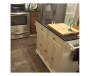 KITCHEN CART WHITE 4 DOOR GRANITE TOP