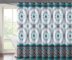 aqua and gray shower curtain.  Project Runway Katrina Aqua Gray Shower Curtain 72 Big Lots
