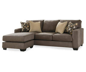 Keenum Taupe Sofa With Reversible Chaise Big Lots