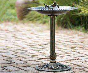 Kensington Cast Iron Bird Bath Big Lots