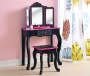 Kid's Vanity Set with Mirror & Stool