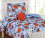 Kids Collection Game Day Twin Comforter Set with Football Pillow Room Scene