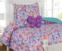 Kids Collection Twin Butterfly Beauty Comforter Set with Butterfly Pillow Room Scene