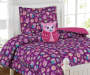 Kids Collection What A Hoot Twin Comforter Set with Shape Pillow Room Scene