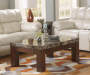Kraleene Lift Top Faux Marble Coffee Table lifestyle