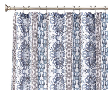 blue and gray shower curtain.  15 00 Project Runway Kyle Blue Gray Fabric Shower Curtain Curtains Sets Big Lots