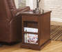 LAFLORN MEDIUM BROWN CHAIRSIDE END TABLE