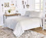 LC 3PC VELVET PLUSH QUILT KING GREY 102x90