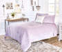 LC 3PC VELVET PLUSH QUILT KING LAVENDER 102x90