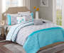 LC 5PC QUILT QUEEN CLARA BLUE/GRAY