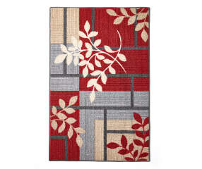 Living Colors Maxine Red Amp Gray Geometric Vine Accent Rug
