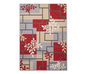 Living Colors Maxine Red Amp Gray Geometric Vine Area Rug