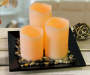 LED Candle Garden with Rocks, 4-Piece Set