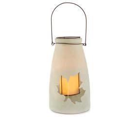 frosted teal maple leaf led mason jar big lots. Black Bedroom Furniture Sets. Home Design Ideas