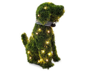 Led Sitting Dog Artificial Topiary 21 Quot Big Lots