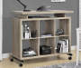 LIGHT BROWN 6 CUBE STANDING DESK Lifestyle