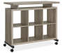 LIGHT BROWN 6 CUBE STANDING DESK Silo