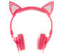 LIGHT UP LED CAT HEADPHONES PINK