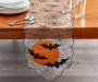 Lace Spiderweb with Bats Table Runner 13 Inches by 72 Inches On Table with Props Lifestyle Image