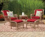 Lakeview Resin Wicker 5-Piece Patio Chat Set