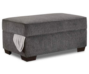 Lane Kasan Charcoal Gray Storage Ottoman Big Lots