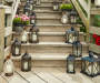 Lanterns on Steps Lifestyle Image