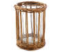 Large Rattan and Glass LED Candle Holder silo front