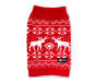 Large Red Moose Pet Sweater Overhead Shot Silo Image