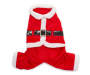 Large Santa Clause Pet Outfit Overhead Shot Silo Image