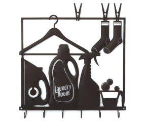 Laundry Laser Cut Metal Wall D 233 Cor With Hooks Big Lots