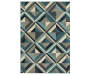 Lawson Blue Area Rug 5 Feet 3 Inches by 7 Feet 6 Inches Overhead View Silo Image