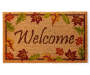 Leaf Celebration Welcome Outdoor Coir Doormat Overhead View Silo Image