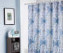 Leora Blue and White Medallion Microfiber Shower Curtain Lifestyle Image
