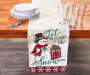 Let It Snow Chenille Snowman Table Runner 13 Inches by 72 Inches On Table with Props Lifestyle Image