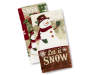 Let It Snow Kitchen Towels Stacked and Fanned Silo Image