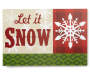 Let It Snow Tabletop Christmas Plaque Overhead Shot Silo Image