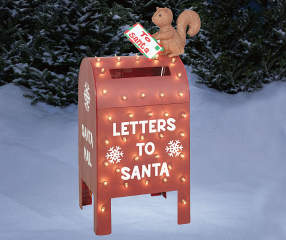 Winter Wonder Lane Quot Letters To Santa Quot Light Up Metallic
