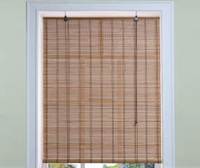 Living Colors Light Bamboo Roll Up Blind 24 Quot X 72