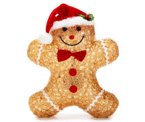 Winter Wonder Lane Light Up Acrylic Gingerbread Man Big Lots