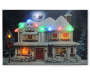 Light Up Christmas Home Musical Canvas 18 Inches by 12 Inches Lit Up Front View Silo Image