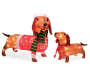 Light Up Dachshund Family 2 Piece Set Lit Up Silo Image
