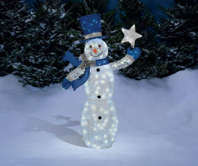 Winter Wonder Lane Light Up Glittering Snowman 5 Big