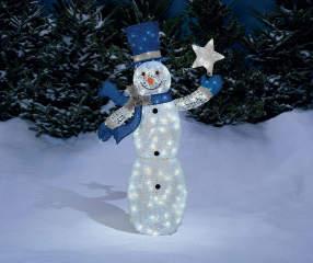 Winter Wonder Lane Light Up Glittering Snowman 5 Big