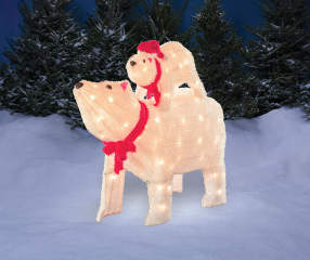 Winter Wonder Lane Light Up Polar Bear Amp Cub 2 Piece Set