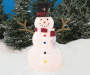 Light Up Pop Up Snowman 54 Inches with Lights On Lifestyle Image