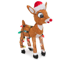 Winter Wonder Lane Light Up Rudolph The Red Nosed Reindeer