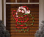 Light Up Santa Claus Window Art on Window Lifestyle Image